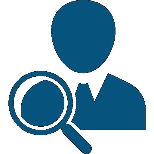 Blue Executive Recruitment Icon