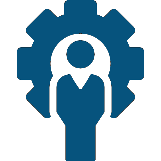 Blue Leadership Development Icon