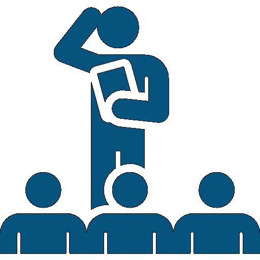 Blue Executive Coaching Icon